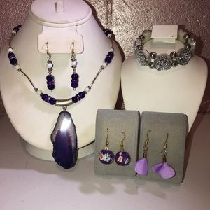 Handcrafted jewelry necklace earring bracelet set